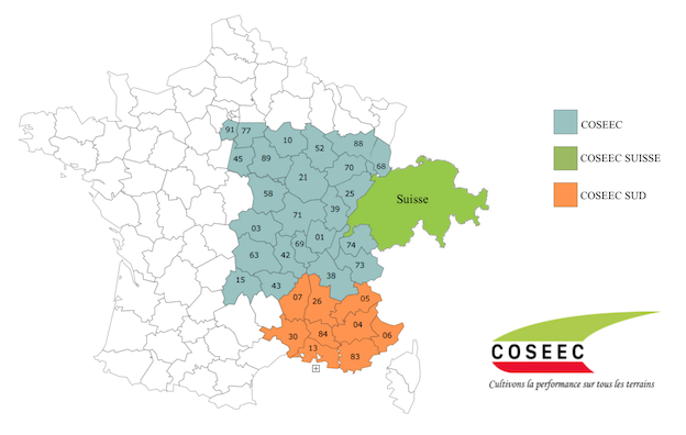 Carte implantation COSEEC